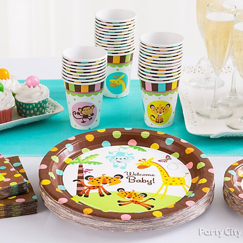Curated image with Fisher-Price Jungle Baby Shower Dinner Plates 8ct, Fisher-Price Jungle Baby Sh...