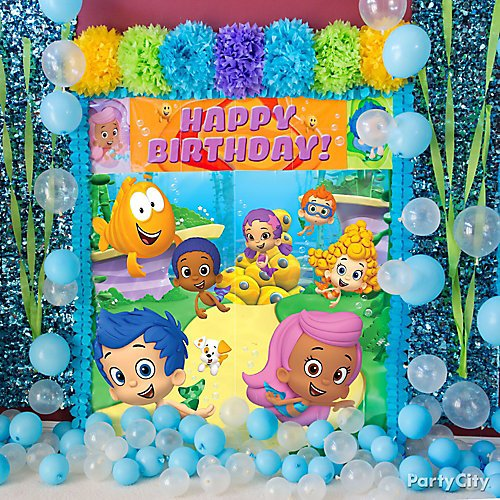 Bubble guppies party ideas party city idea 1 create a bubbly under the sea scene maxwellsz