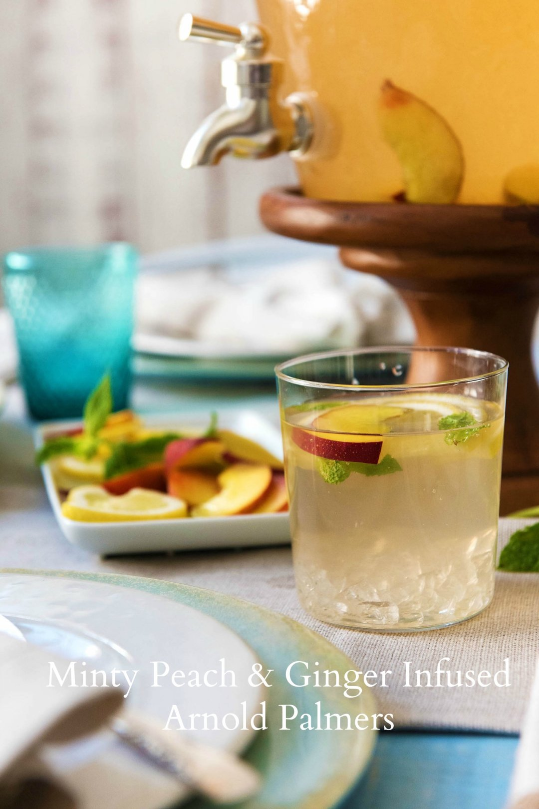 Recipe Minty Peach Amp Ginger Infused Arnold Palmers From