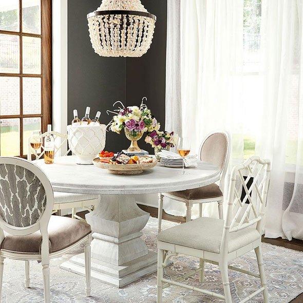 Andrews Pedestal Dining Table   Ballard Designs
