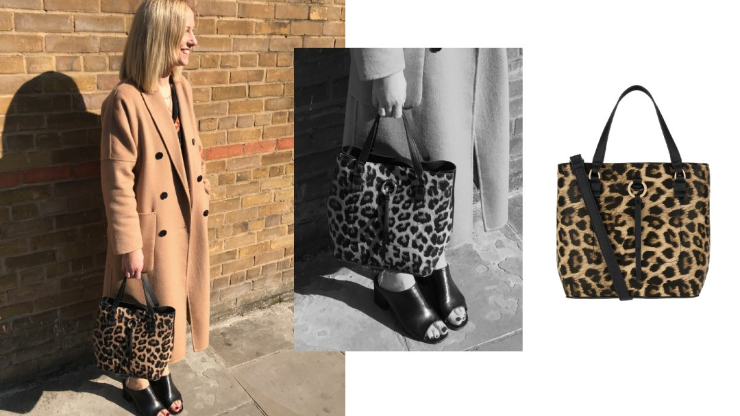 Curated image with Leopard Double Bucket Bag