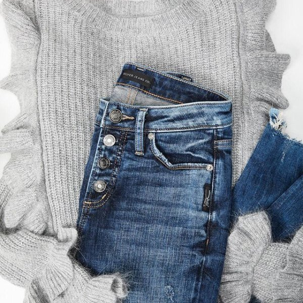 Nothing like ruffles and buttons to take your everyday sweater-and-denim   fit 0b93b0c5c0b1d