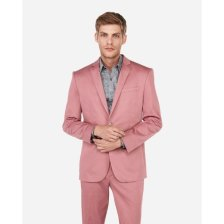 Shop Slim Pink Cotton Sateen Performance Stretch Suit Jacket Pink and more