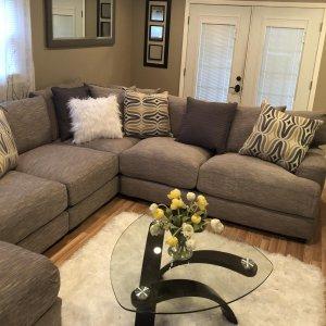 Leighton Pc Sectional Sofa Fog Raymour Flanigan - Raymour and flanigan sectional sofas