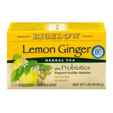 Shop Bigelow Herbal Tea Bags Plus Probiotics Lemon Ginger - 18 CT - Walmart.com and more