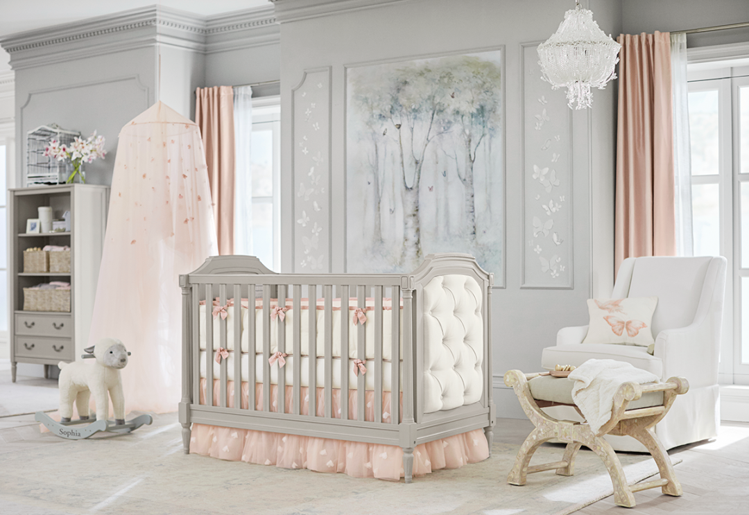 Pottery barn silk curtains - Blythe Crib