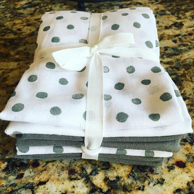 4pk Gray Shapes Kitchen Towel