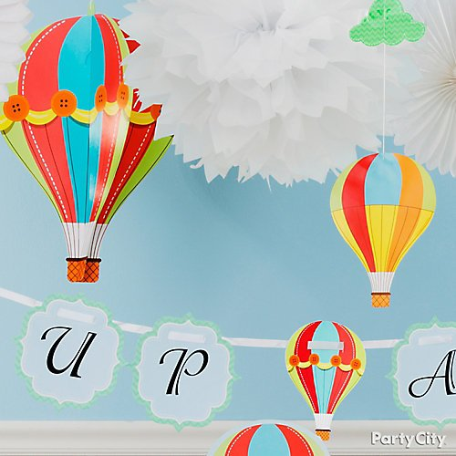 8f7f5a6620e4 Up Up and Away Baby Shower Ideas | Party City