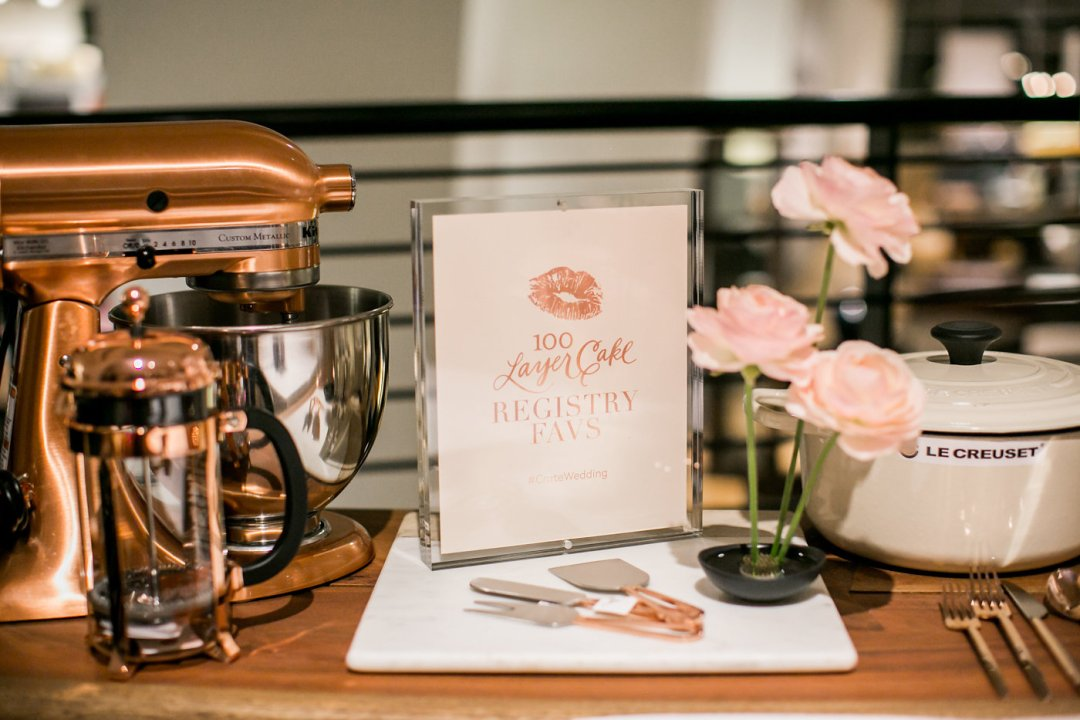 Copper kitchen items for gift registry