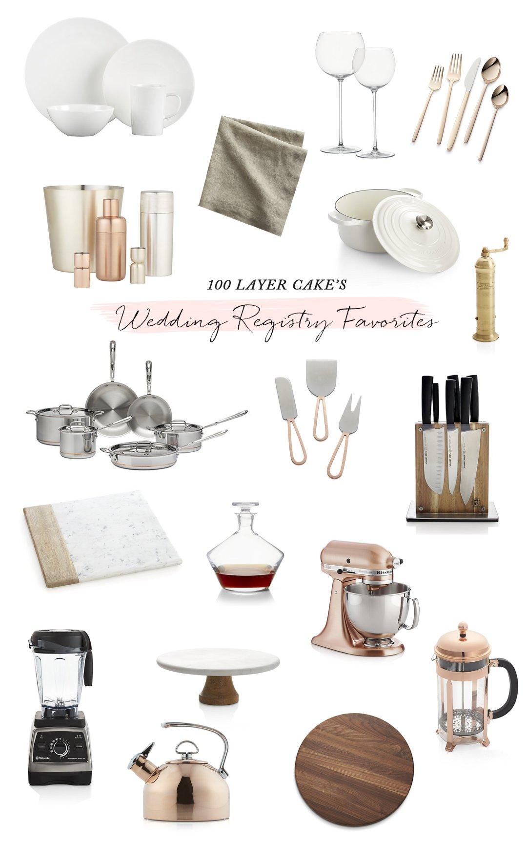 100 Layer Cake wedding gift registry picks