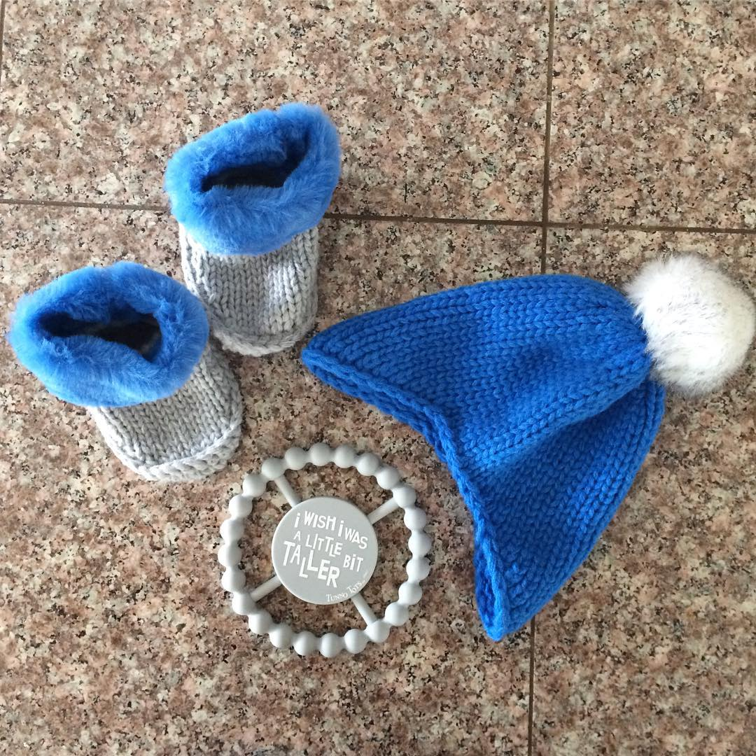 a3870612f91 ... Boys  Beanie with Faux Fur Pom - Cat   Jack Blue 0-6M! see all your  loves · instagram photo by  bbbedina