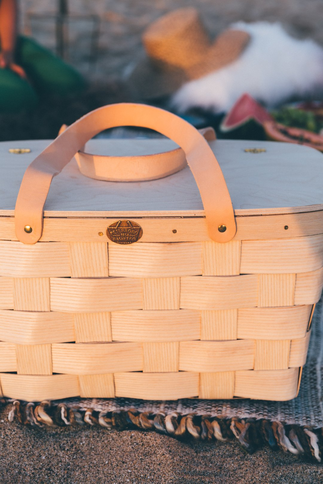 Picnic basket in sun