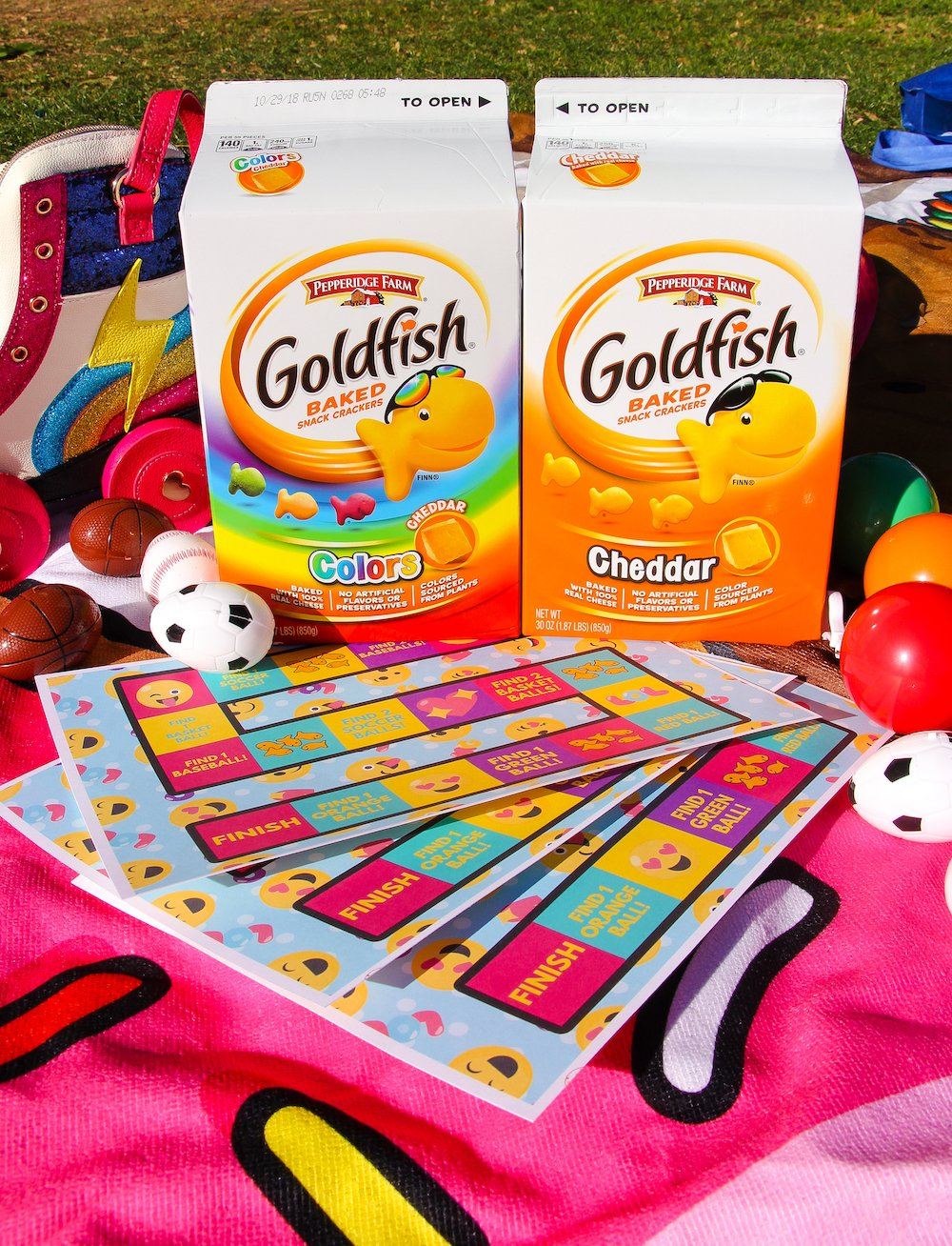Diy find the goldfish crackers spring time game brite and bubbly shop pepperidge farm goldfish baked snack crackers cheddar 30 oz walmart pepperidge farm goldfish cheddar colors baked snack crackers 30 oz solutioingenieria Choice Image