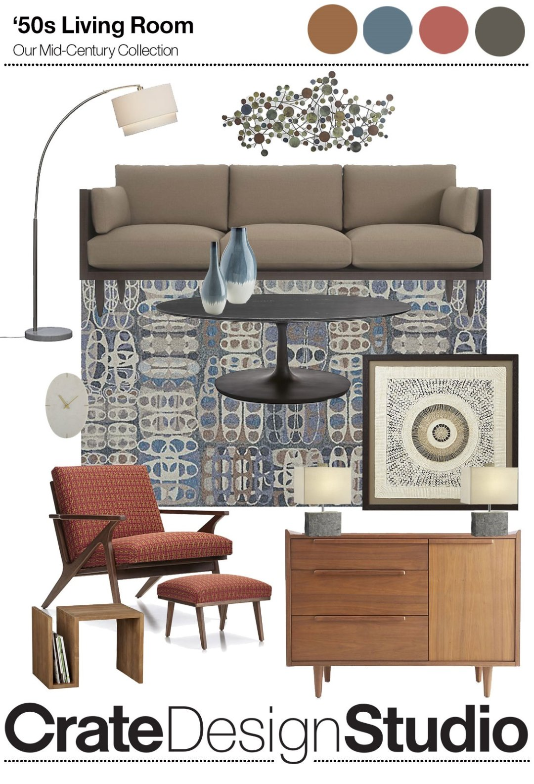 Superb Get The Look Mid Century Modern Crate And Barrel Blog Ocoug Best Dining Table And Chair Ideas Images Ocougorg