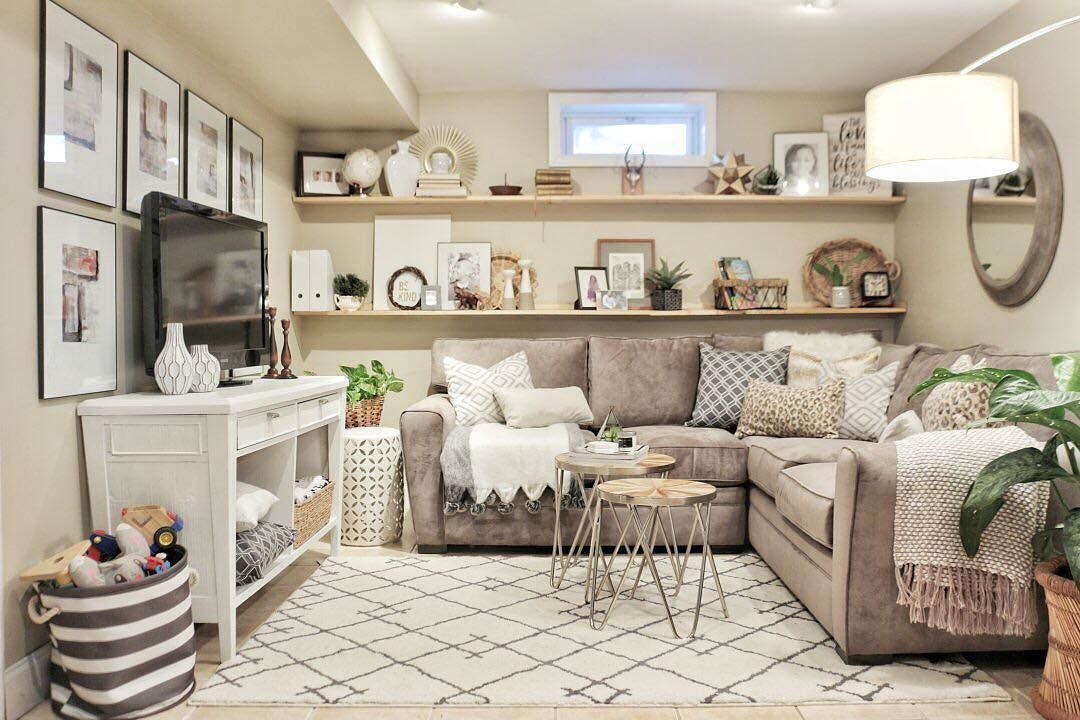 Cozy Basement Family Room Reveal Made By Carli