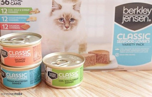 cat food in cans