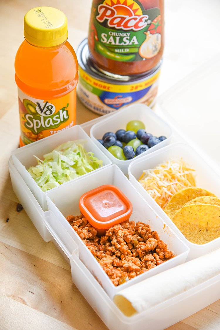 Back to School Taco Lunch Kit for Kids