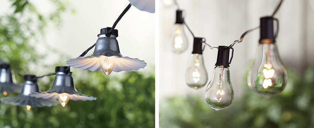Vintage inspired string lights