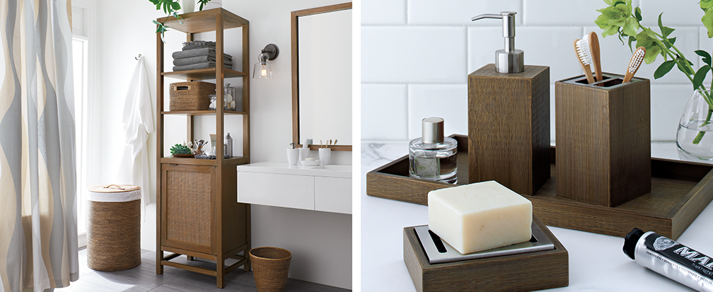 bathroom decorating ideas | crate and barrel