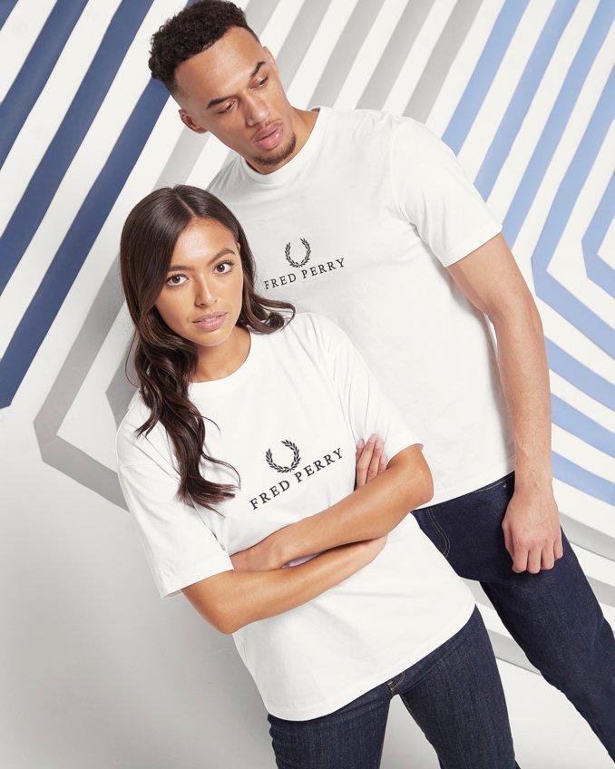 Camisetas básicas de Fred Perry para hombre y mujer