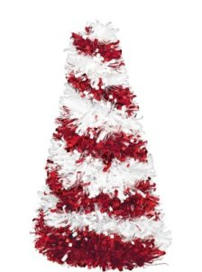 3d candy cane tinsel christmas tree - Candy Cane Christmas Tree Decorations