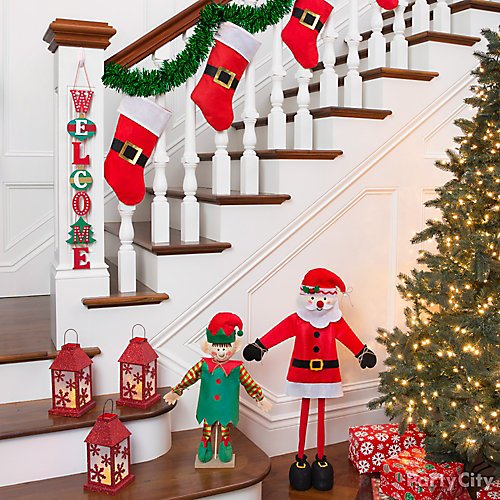 curated image with santa stairway decorating kit santa belt christmas stocking christmas stacke - Christmas Tree Decorating Ensemble Kits