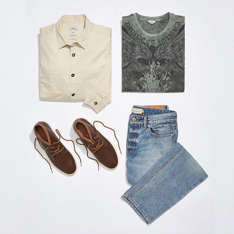 Shirt and tee combo