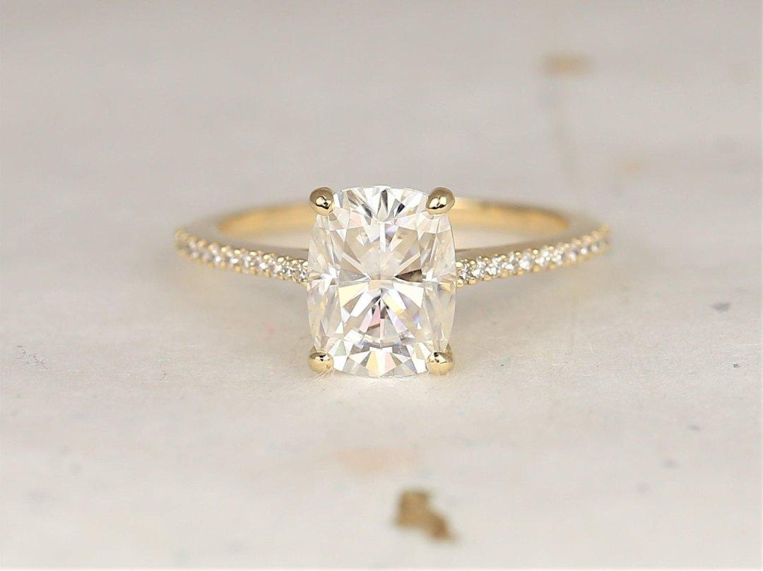 White Blair Rectangular Engagement Ring