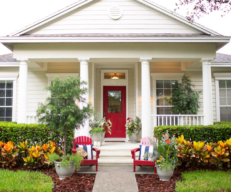 Small Porch Designs Can Have Massive Appeal: Front Door Makeover With Ashley Brooke Designs