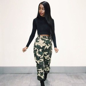 97021396a5427 Baddie bae @angwitacho rockin' that camo 💅💅 #WindsorGirl Link to pants in