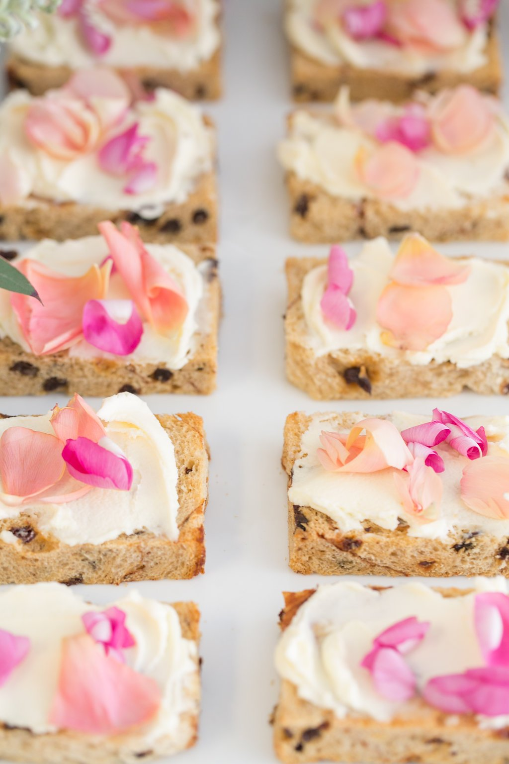 floral toast for bridal shower dessert table