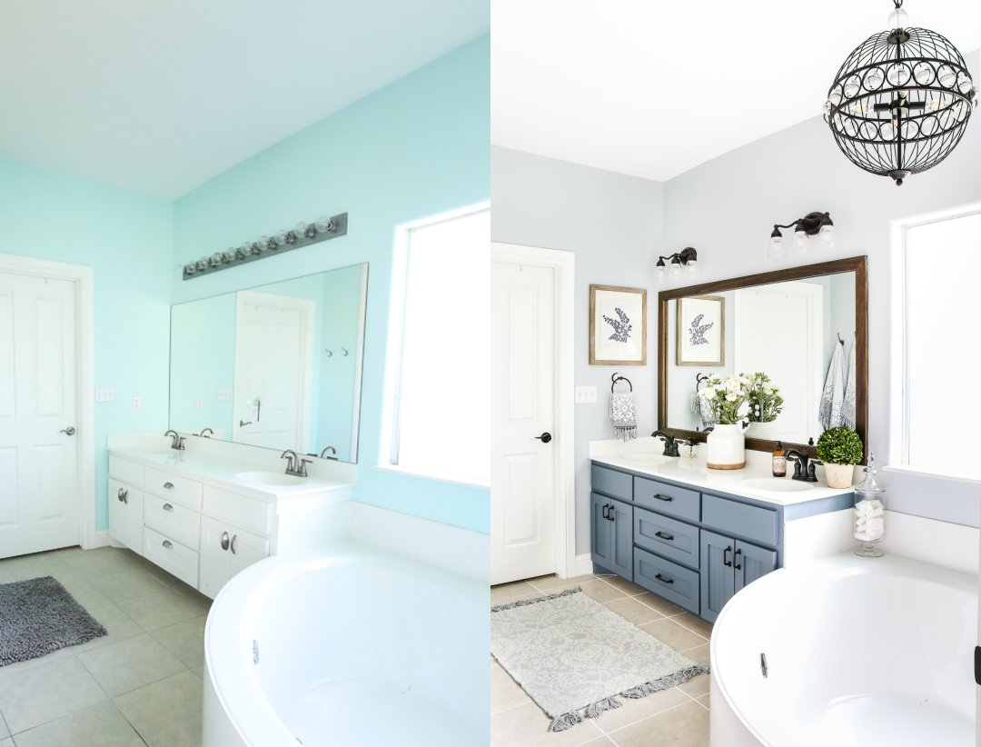 Lowe\'s Makeover Bathroom Reveal - Bless\'er House