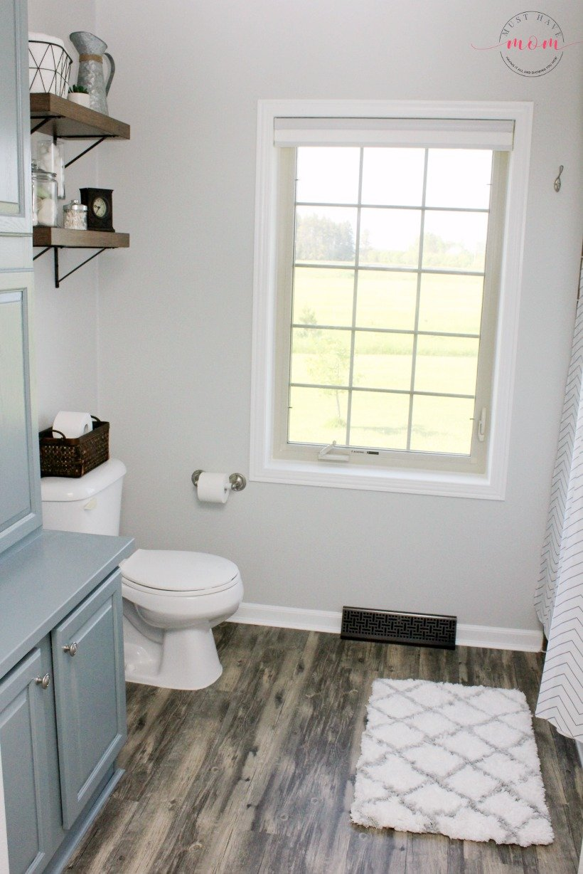 Farmhouse Style Fixer Upper Bathroom On A Budget - Must Have Mom