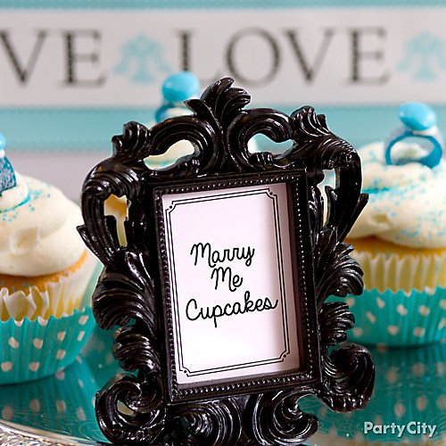 Robins egg blue candy buffet ideas party city shop white baroque photo frame place card holder silver beaded photo frame place card holder rhinestone heart place card holder and more watchthetrailerfo