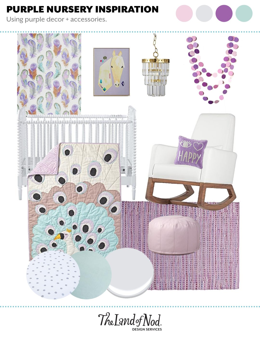 Purple Nursery Inspiration
