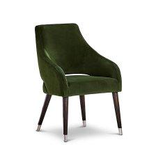 Shop Naveen Dark Green VELVET Upholstered Arm Chair and more