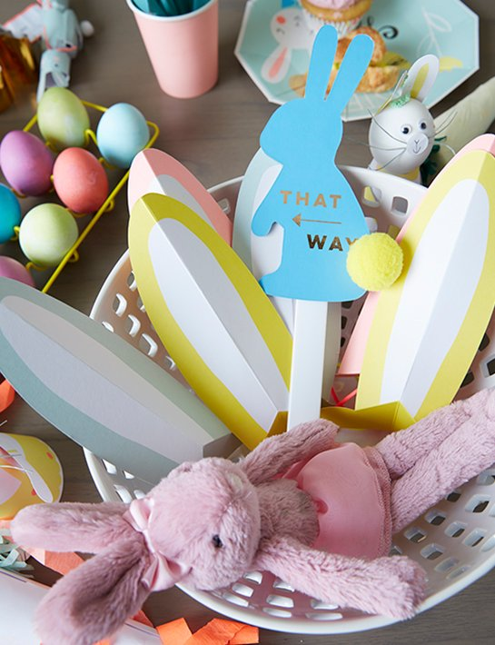 Easter basket ideas for babies and kids the land of nod shop easter bunny ears set of 8 jellycat tutu lulu pink bunny easter egg hunt kit and more negle Image collections