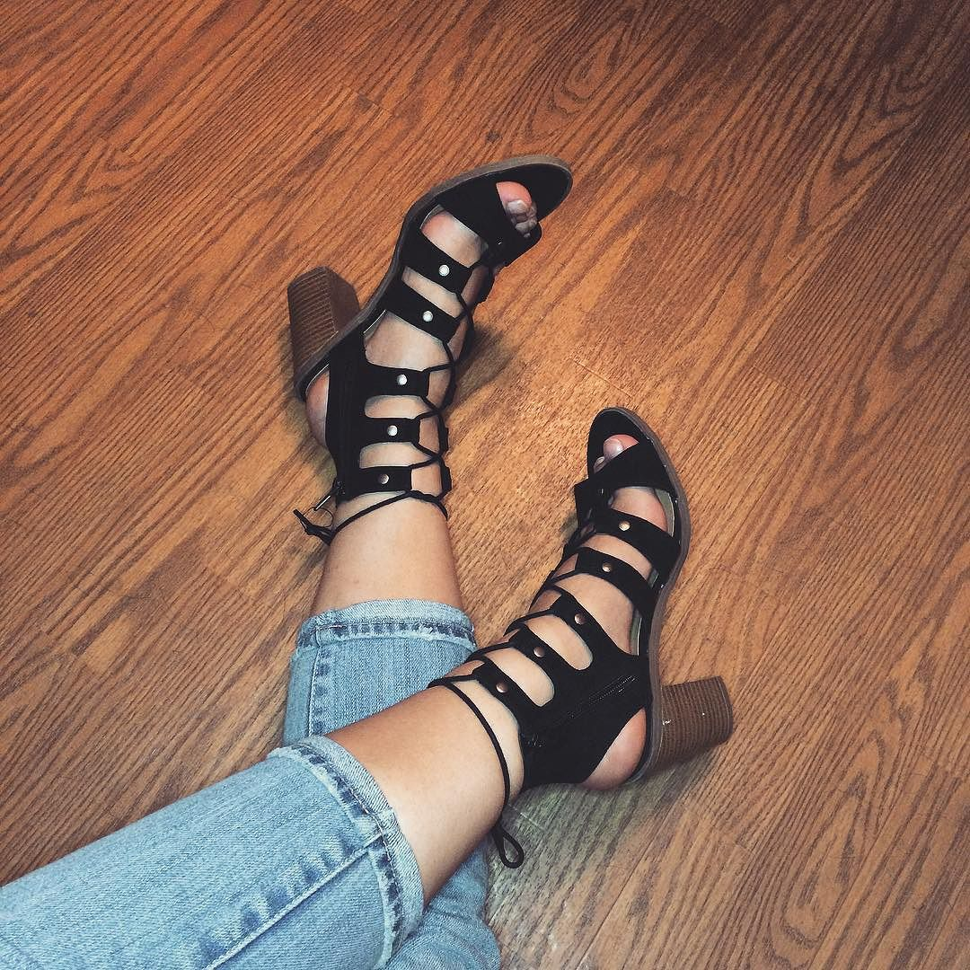 00c049bb8273 ... Women s dv Zoey Gladiator Sandals Stacked Heels! see all your loves ·  instagram photo by Huldra•V