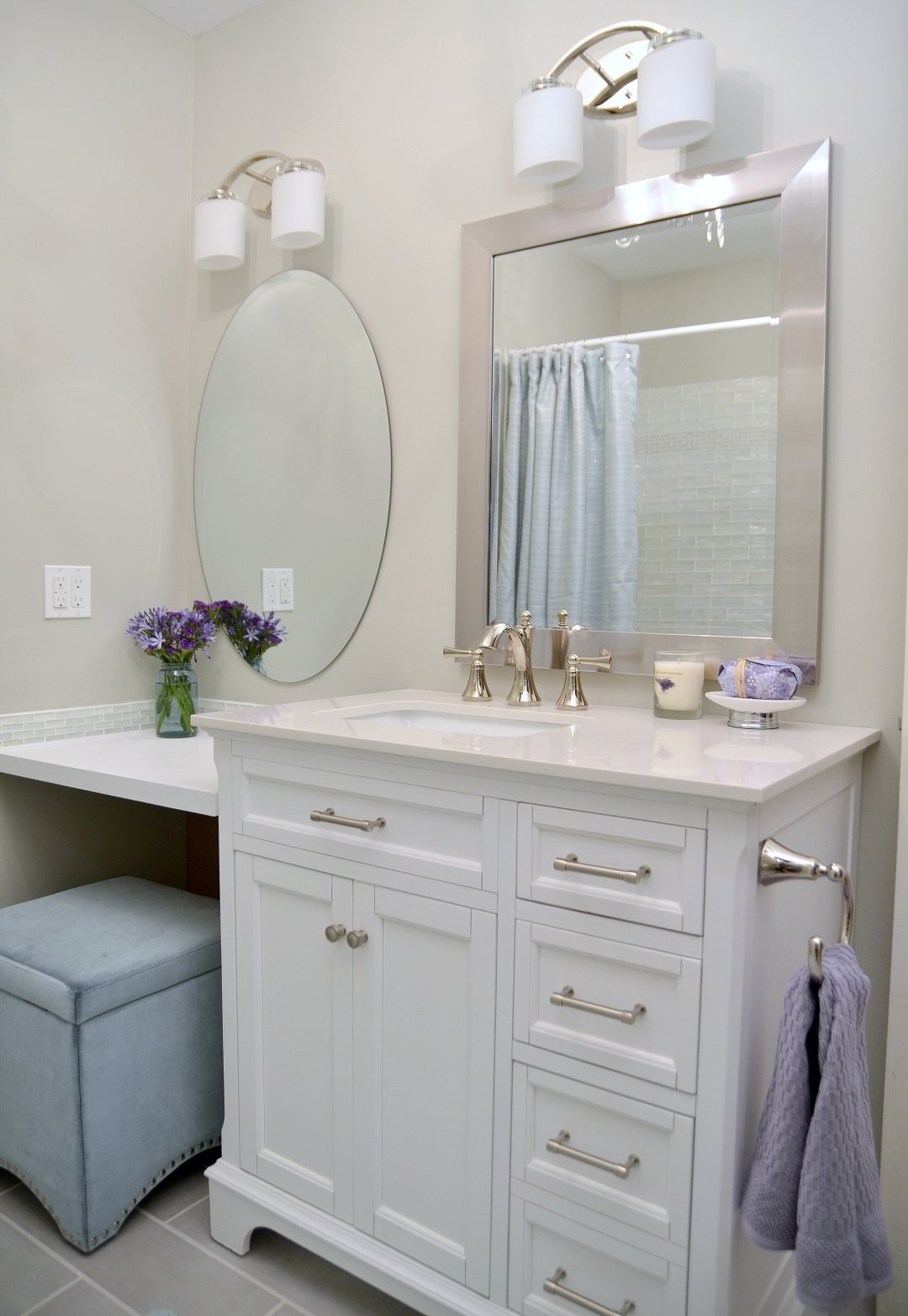 Lowe S Bathroom Makeover Reveal Beneath My Heart
