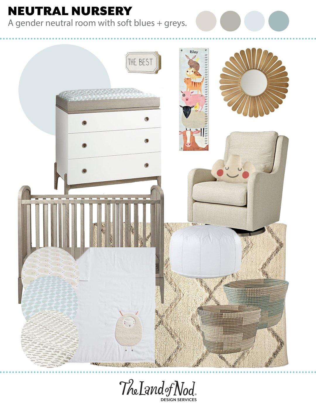 Gender Neutral Blue Nursery Crate Kids Blog