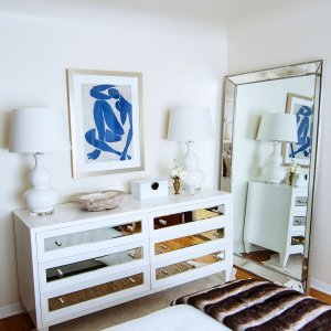 z gallerie bedroom. p 7654 concerto 6 drawer dresser One more Mirror Monday  because why not Loving this light airy corner of Naturally Luxe