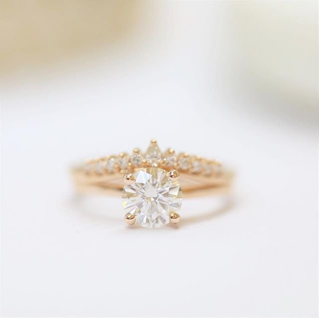 Picture of an engagement ring with a diamond.