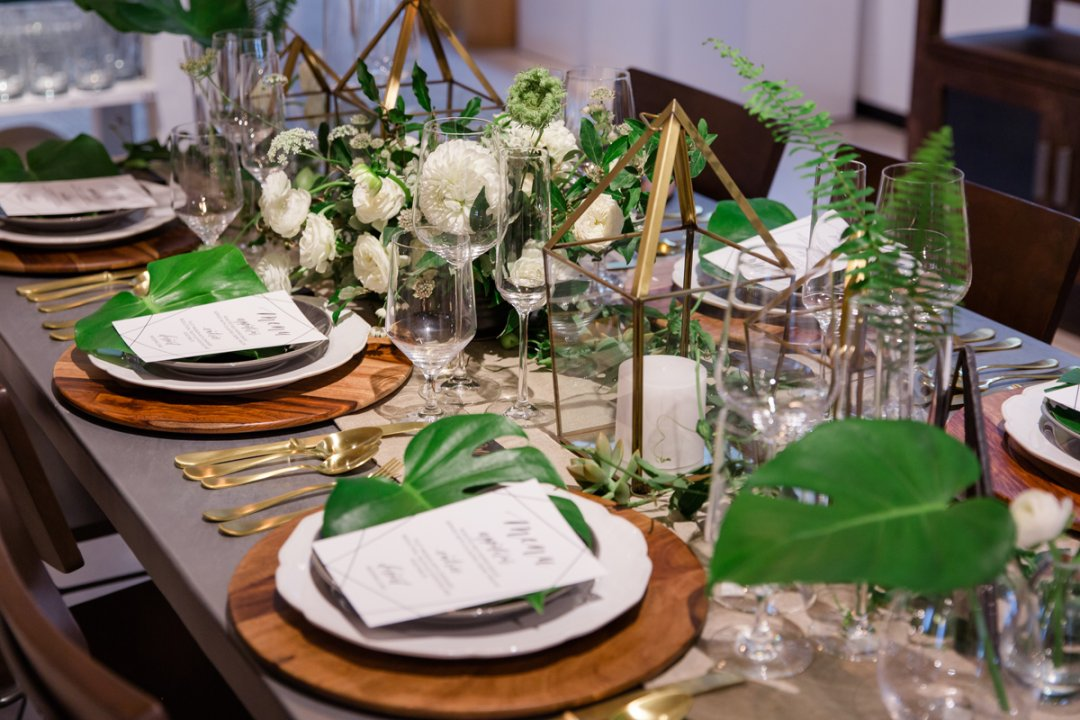 Placesettings at table