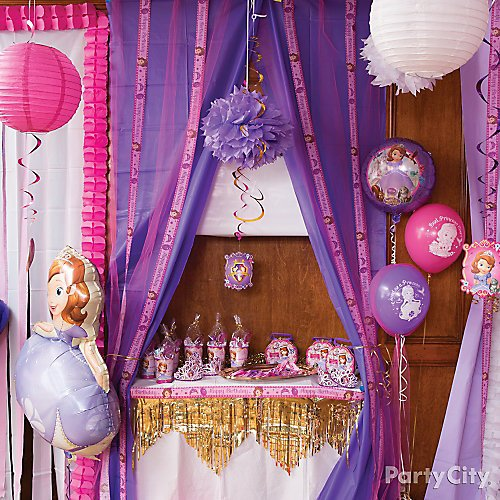 Awe Inspiring Sofia The First Party Ideas Party City Download Free Architecture Designs Meptaeticmadebymaigaardcom