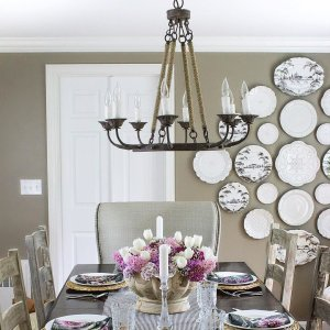 Laurenza 8 light chandelier ballard designs im making a few changes to transition my dining room from easter bye aloadofball Image collections