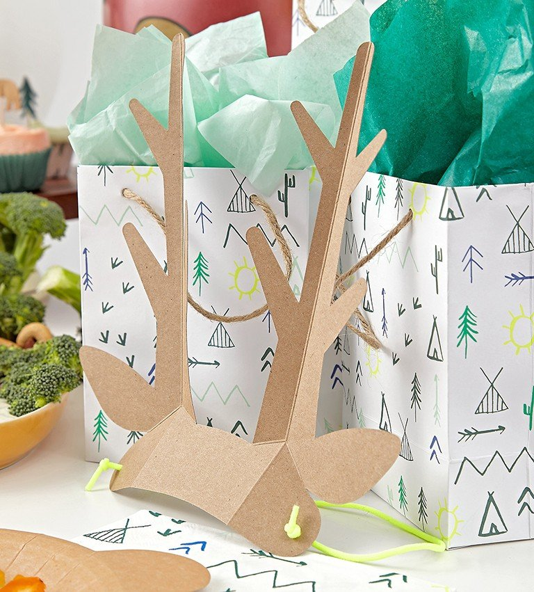 Camping themed party bags