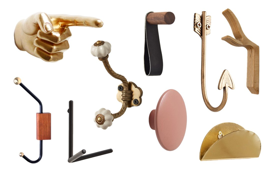 9 fabulous wall hooks to hang your hat and coat and for Hooks to hang purses