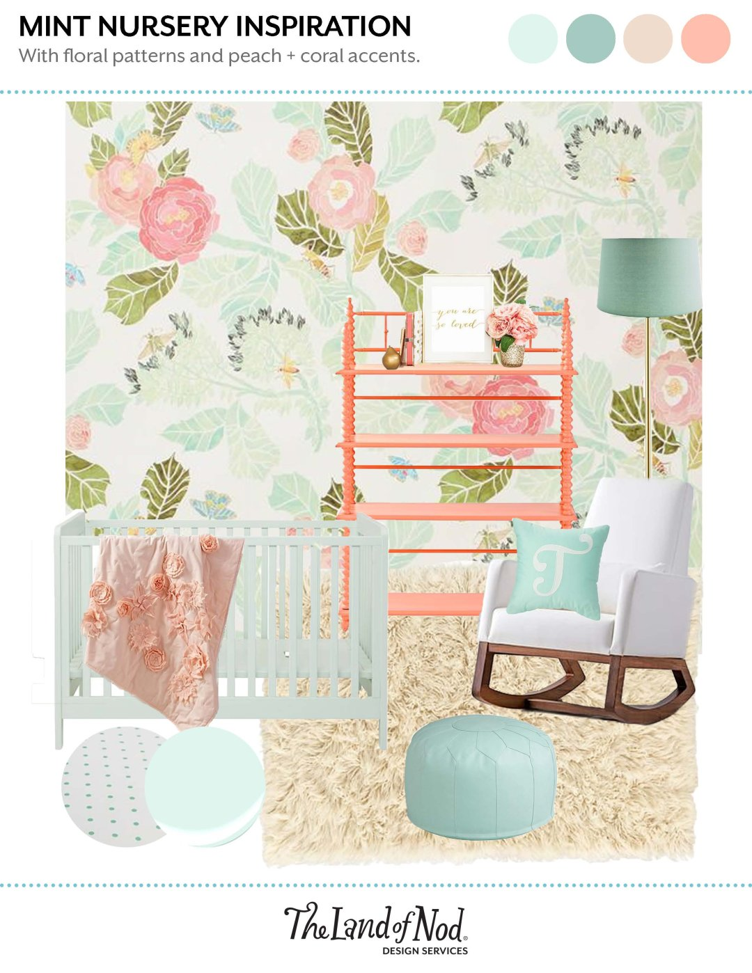 Mint Nursery Inspiration for Baby Girl