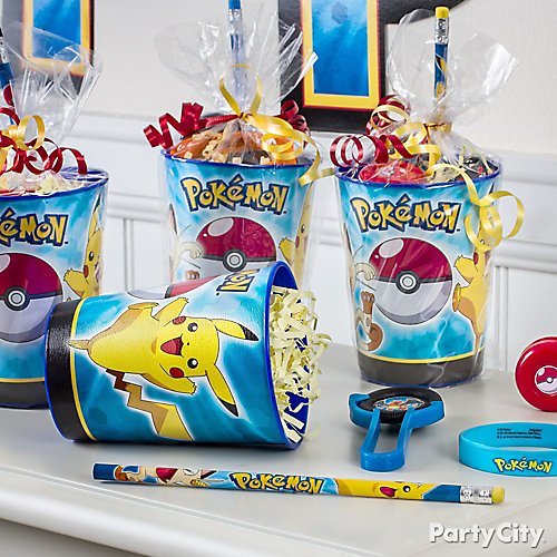 Personalised Pokémon Party Box Lunch Favour Gift Box Bag Sweets Pokemon Go Ball