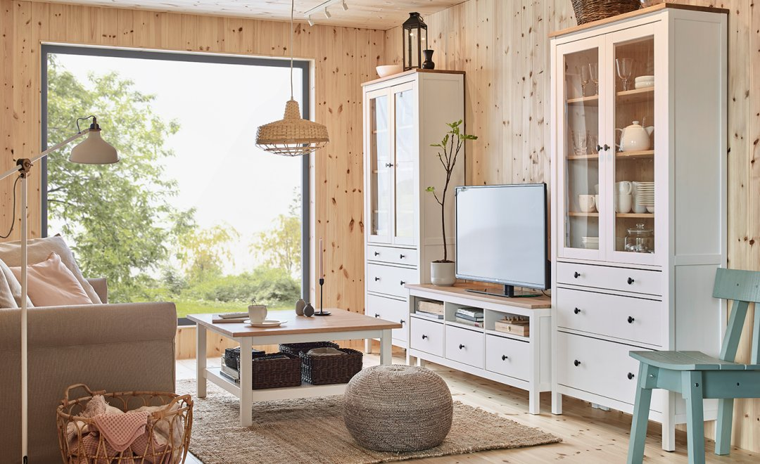 66b9a95b63e Curated image with HEMNES Glass-door cabinet with 3 drawers